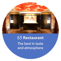 63 restaurants, restaurants with the best taste and atmosphere